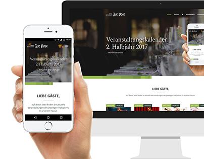 """Hotel-Restaurant """"Zur Post"""" Microsite 2017"""