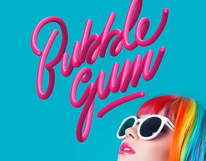 Bubble Gum typography