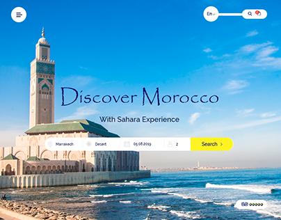 Web design for a travel website