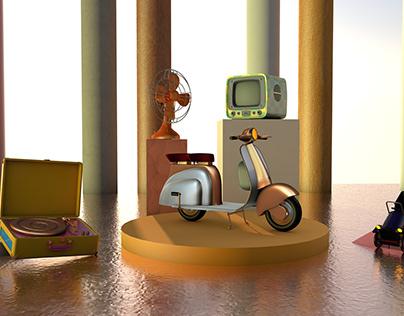 Retro | 3D Modeling