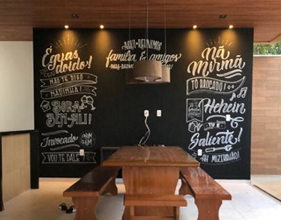 Éguas, doido! - Lettering Mural