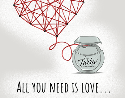 All you need is love and floss (postcard)