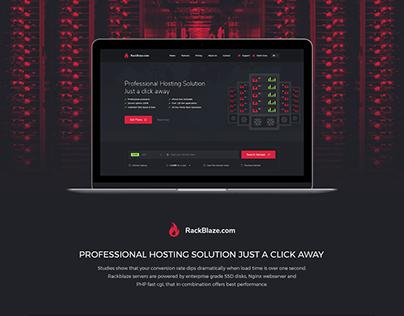 Rackblaze - Hosting Landing page