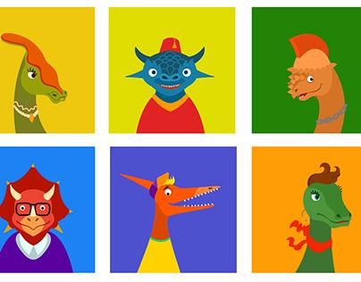 Set of avatars for PenPal school