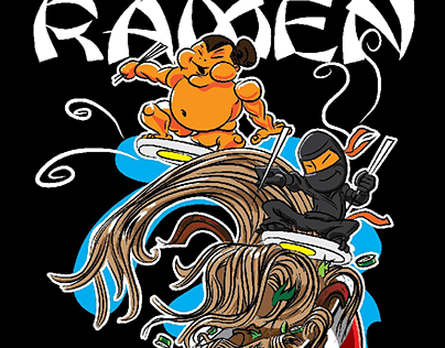 Ramen Tsunami Sumo and Ninja Surfers