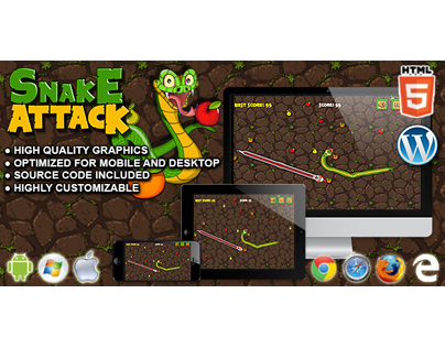 HTML5 Game: Snake Attack
