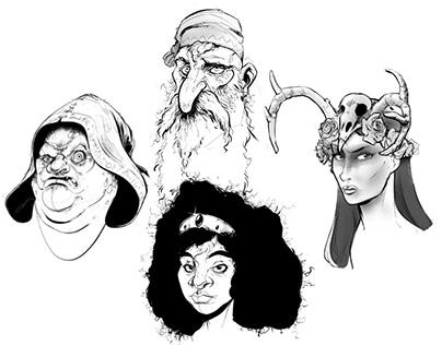 Fantasy Project X, (Character head study, 2019-2020)