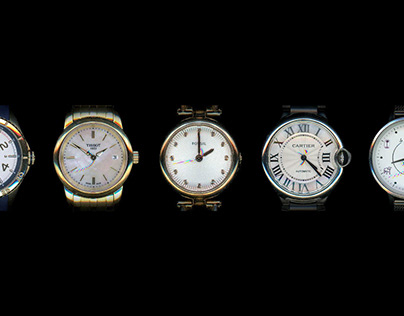 Time Trapped in Watches | Scanography