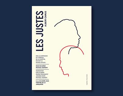 AFFICHE - Les Justes - Camus (theatre poster)