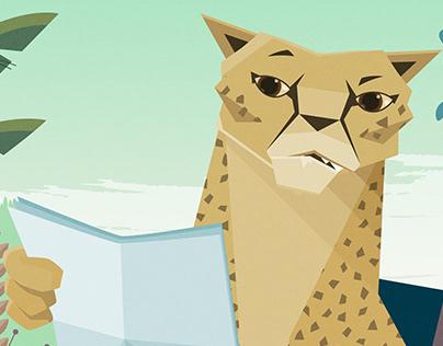 Nimbly, the Cheetah - Short Animated Ad 1