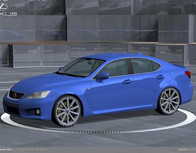 2008 Lexus IS F, Ultrasonic Blue Mica