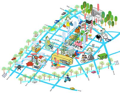 Taichung walking map 2013