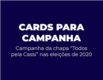 CARDS | Eleições 2020 da CASSI