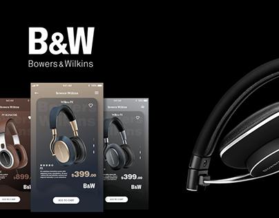 Bowers Wilkins App Design