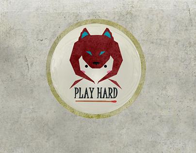 PLAYHARD condom logo design