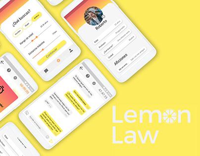 Lemon Law, una app de citas diferente