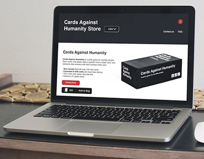 Cards Against Humanity | Website Redesign