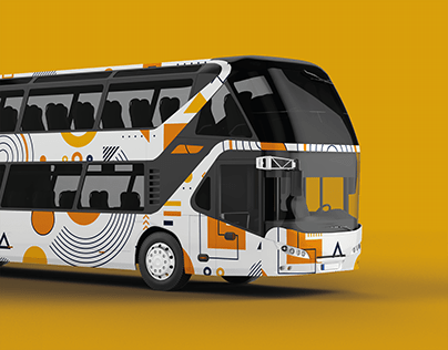 Geometric pattern Design for Coach Bus