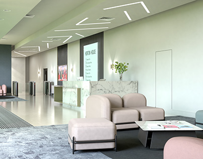 An exquisite Reception and Business Lounge