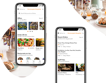 Food Delivery App - Adobe XD Creative Challenge