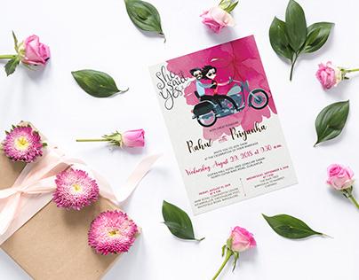 Wedding Invitation: Rahul weds Priyanka