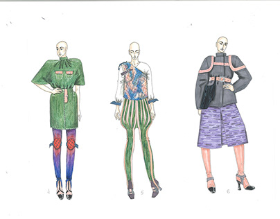 Graphic project per Collezioni Trends Fashion magazine