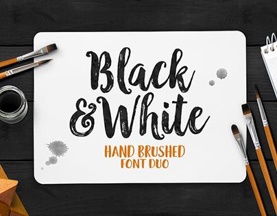 Black & White Font Duo