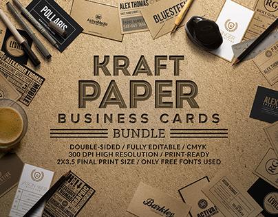 Kraft paper business cards bundle on behance colourmoves