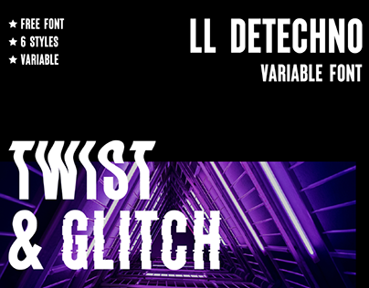 LL DETECHNO - FREE VARIABLE FONT