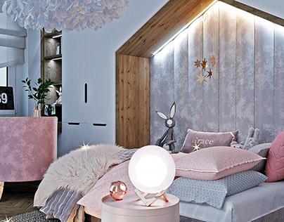Modern room for girls