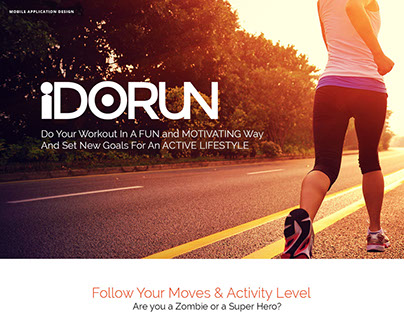 iDoRun-Track Every Move Mobile App Design