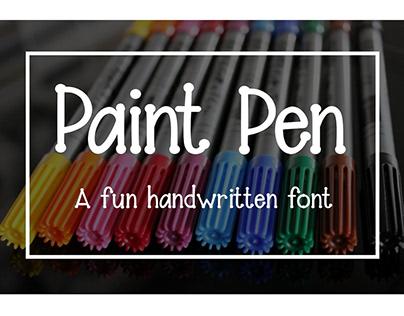 Paint Pen - A fun handwritten font