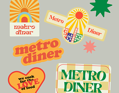 Metro Diner Sticker Pack