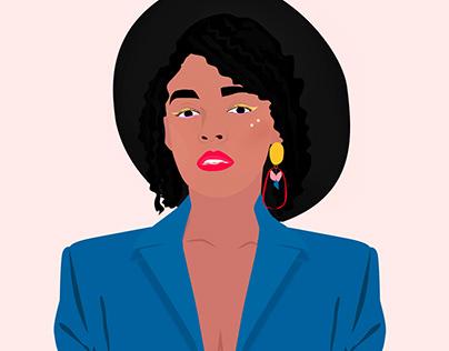 Janelle Monae Illustration