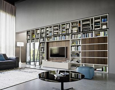 Modern book shelf from Italy
