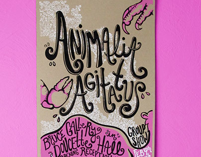 Animalia Agitatus Exhibition Screen Printed Poster