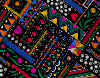 Colourful embroidery