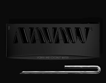 NAVAW vodka branding