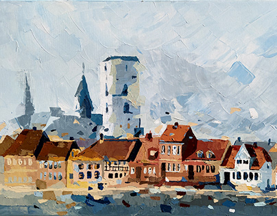 DENMARK / plein air painting