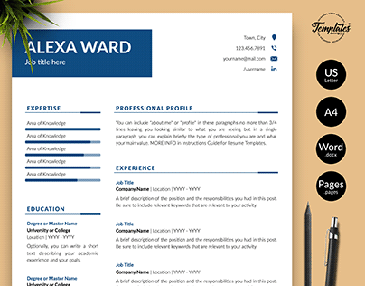 "Resume Template ""Alexa Ward"""