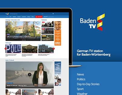 BadenTV website redesign concept