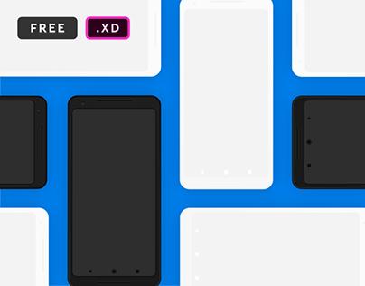 Google Pixel 2 XL Mockups for XD
