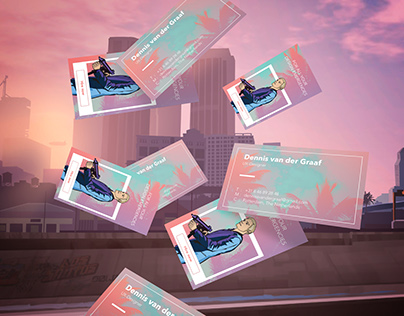 Business card GTA vice city style