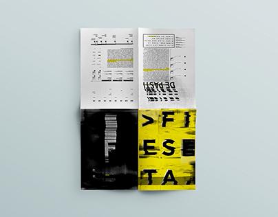 Desplegable tipográfico - Fiesta