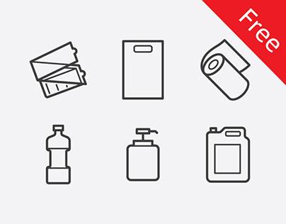 Free icons pack for HoReCa