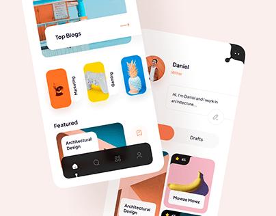 Blogging app Concept