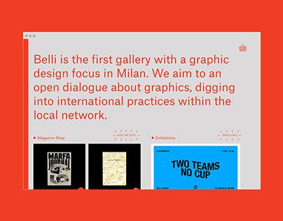 Belli Gallery - website