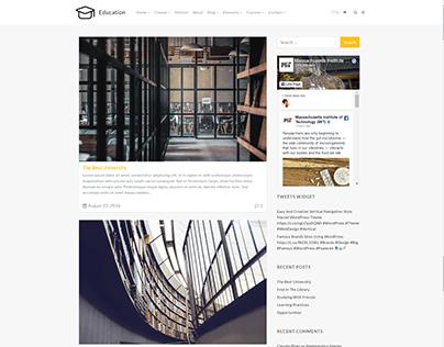 Blog Right Sidebar Page - Education WordPress Theme