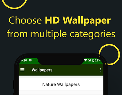 Hd Wallaper app screenshots and icon design
