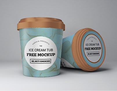 Ice Cream Tub Free Mockup